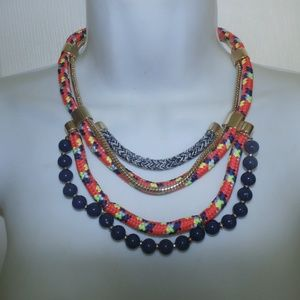 C Wonder Confetti Multi Cord Necklace Gold NWT
